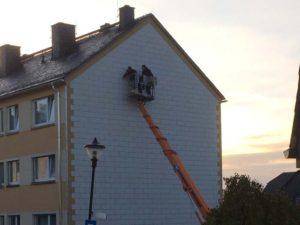 Reparatur einer Fassade